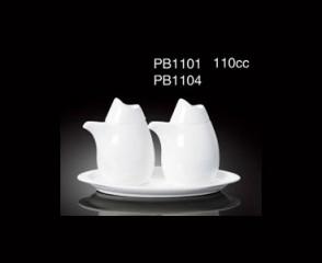 110CC SAUCER&VIGUR POT(BONE CHINA) / 08-420